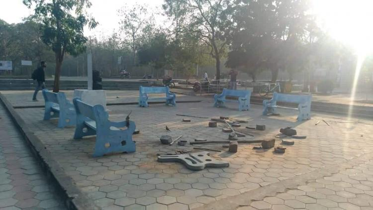 University of Hyd administration removes Velivada Dalit students outraged