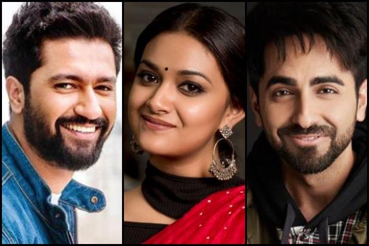 Actors Keerthy Suresh Vicky Kaushal and Ayushmann Khurrana win National Awards 2018