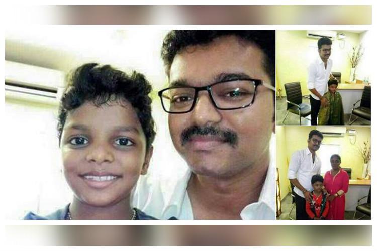 Vijay fulfils wish of child National Award winner meets him in person