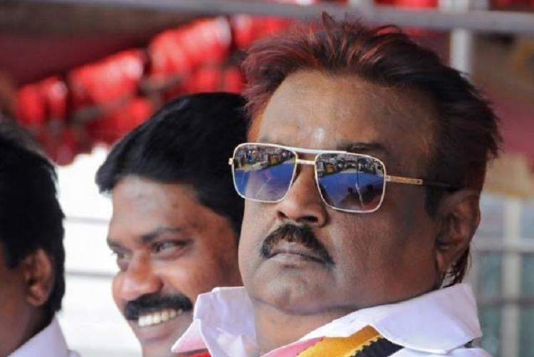Is Vijayakanth spitting at a journalist a crime HC asks cops to figure it out
