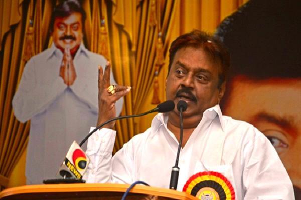 Vijayakanth takes a swipe at Karunanidhi for hoping to be CM at 92