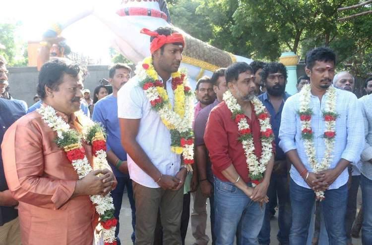 Vishals Sandakozhi 2 launched finally starts rolling