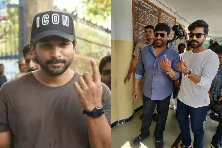 Photos Politicians and celebrities cast their votes in Andhra Pradesh and Telangana