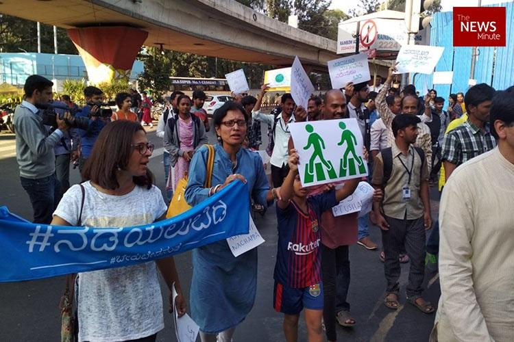 We want pedestrian-friendly roads say Bengaluru citizens at protest march