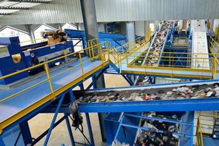 Representational image of waste being processed
