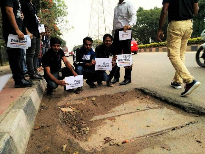 Whitefield rises for better roads protest march in Bengaluru over increasing potholes