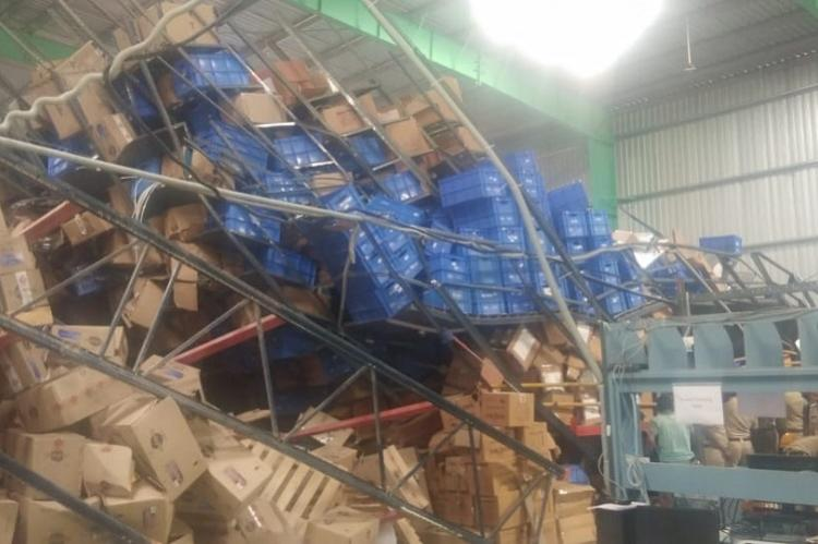 3 workers killed in Bengaluru warehouse in freak accident two officials arrested