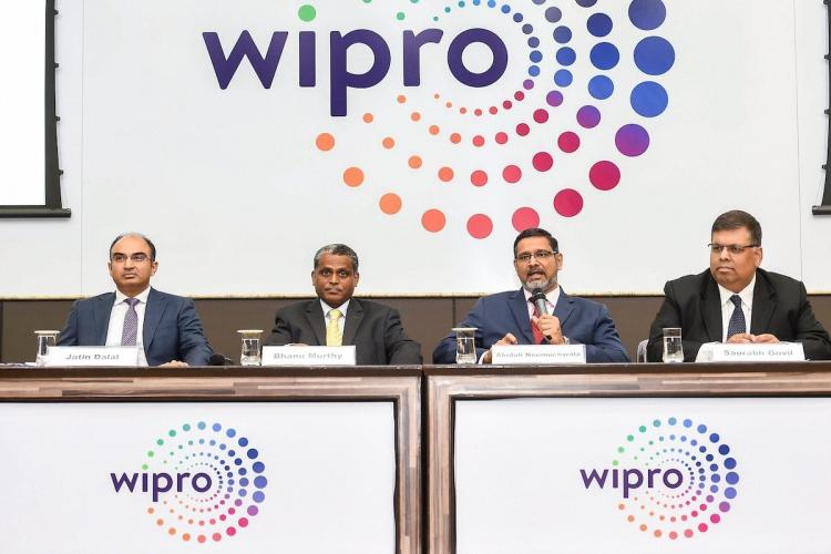 Wipro leaders at a meeting