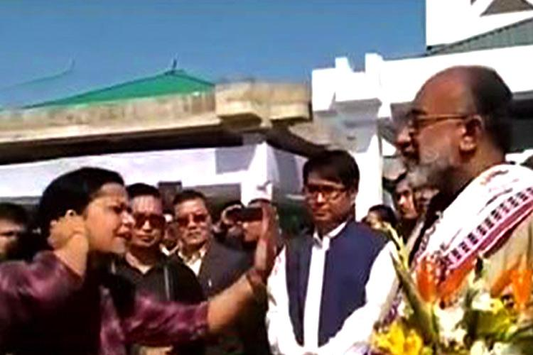 Watch Woman enraged about flight delay confronts Union Minister Alphons