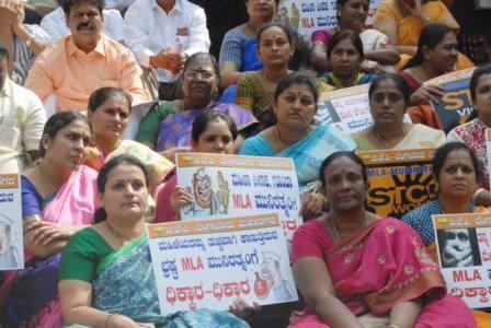 BJP leaders demand action against Congress MLA for harassing women councillors in Bengaluru