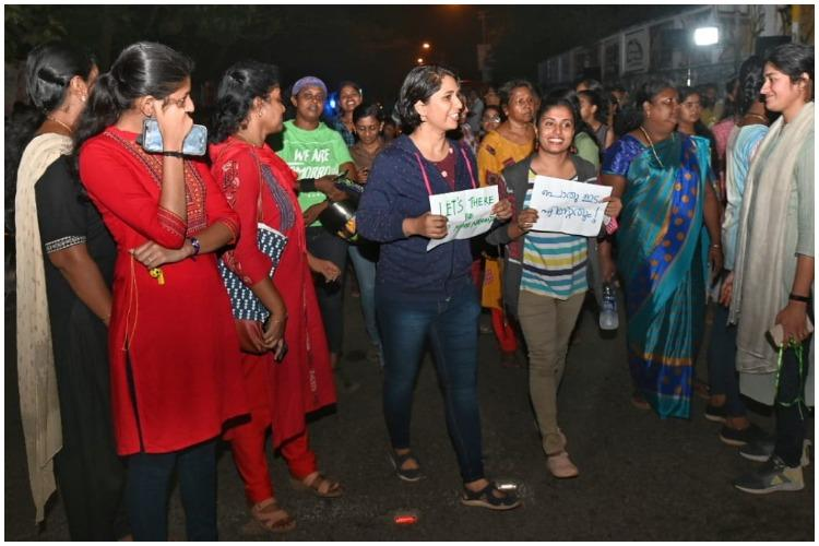 Kerala man held for making obscene gesture at women marching to reclaim public spaces