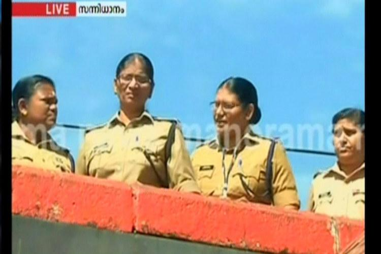 In a first 15 women cops deployed at Sabarimala Sannidhanam