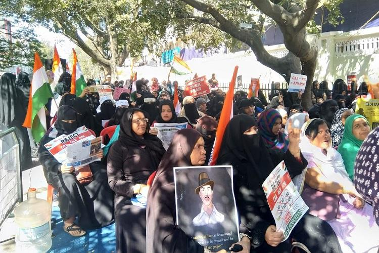 In the spirit of Shaheen Bagh All-women protest against CAA at Bengalurus Mosque Road