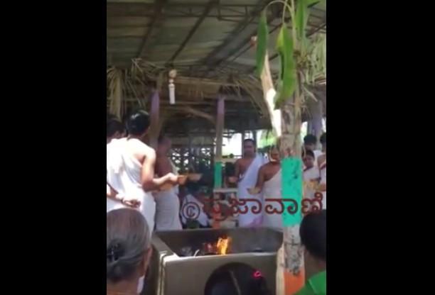 Brahmins of Karnatakas Sanskrit village sacrifice animals for the good of the world