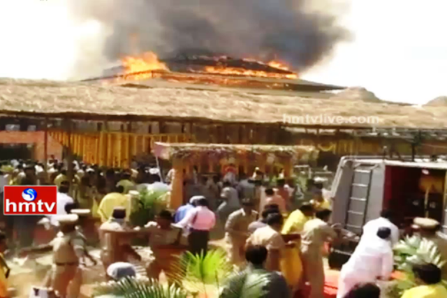 Fire breaks out at Telangana CM KCRs controversial Maha Yagam