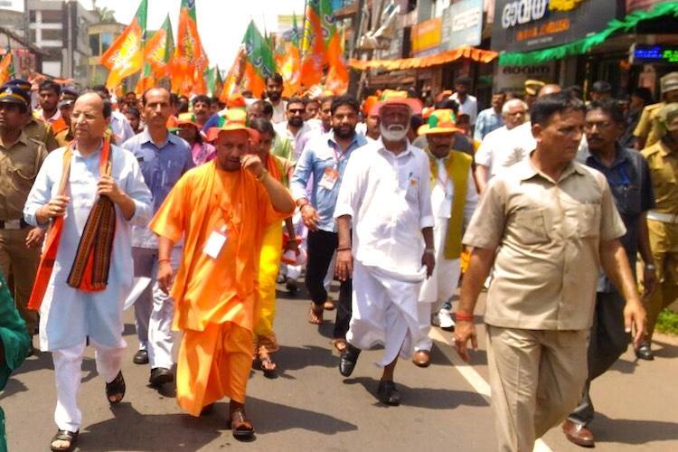 Well teach you to run hospitals CPIM trolls Yogi Adityanath as he enters Kerala for rally