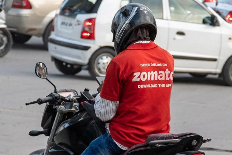 Zomato delivery person on bike
