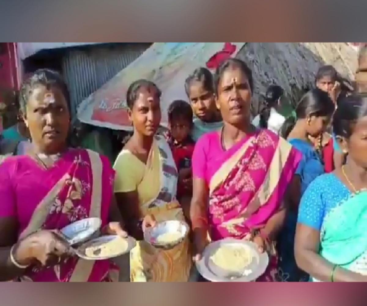 Residents welcome AIADMK MLA with poor-quality ration rice in protest