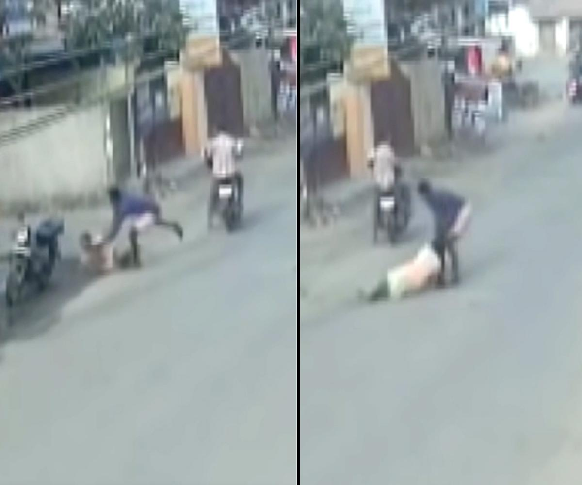 Pregnant woman dragged on road by chain snatcher in Chennai, CCTV video goes viral