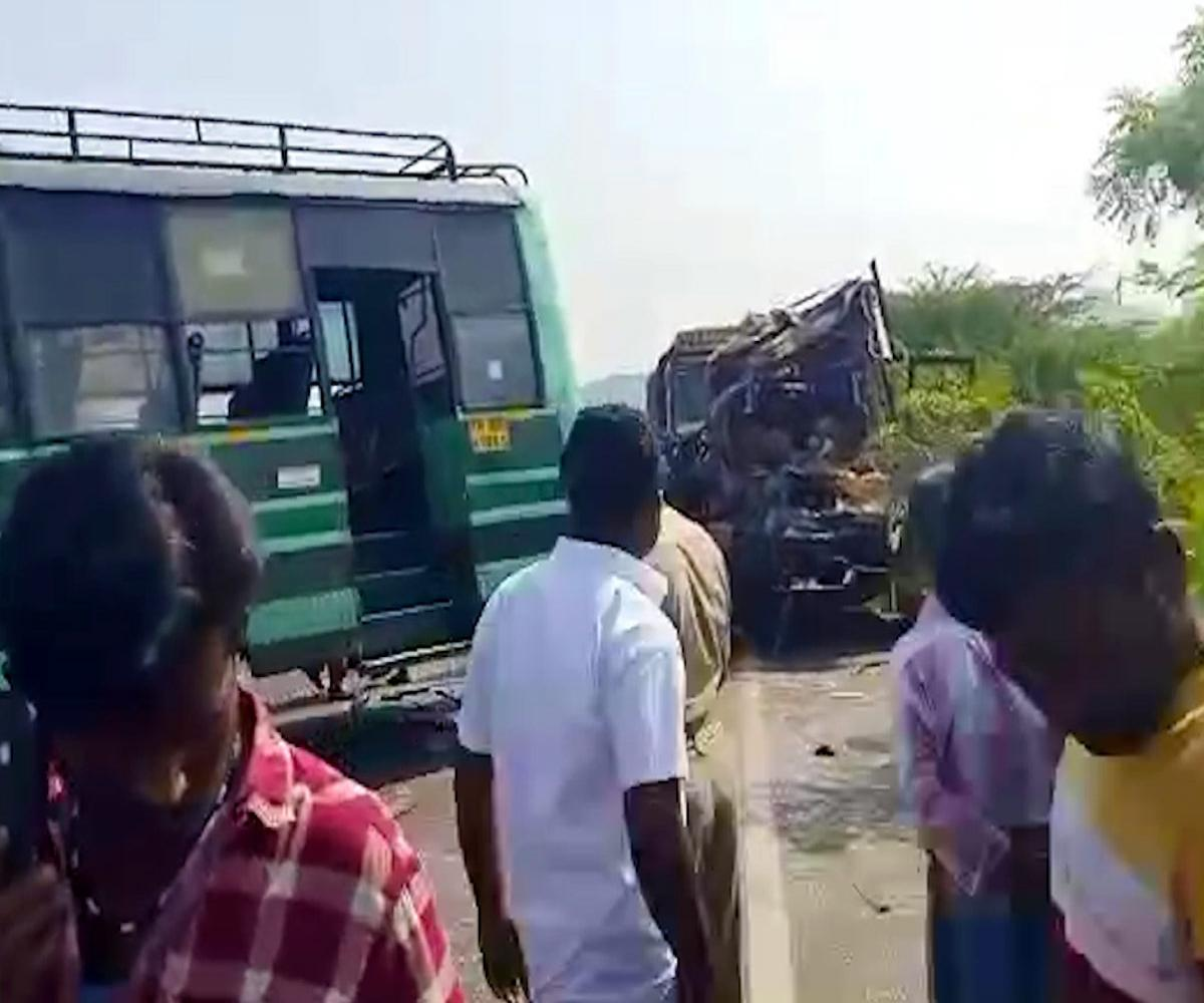Four dead and over 60 injured as TNSTC bus collides with a van in Tamil Nadu