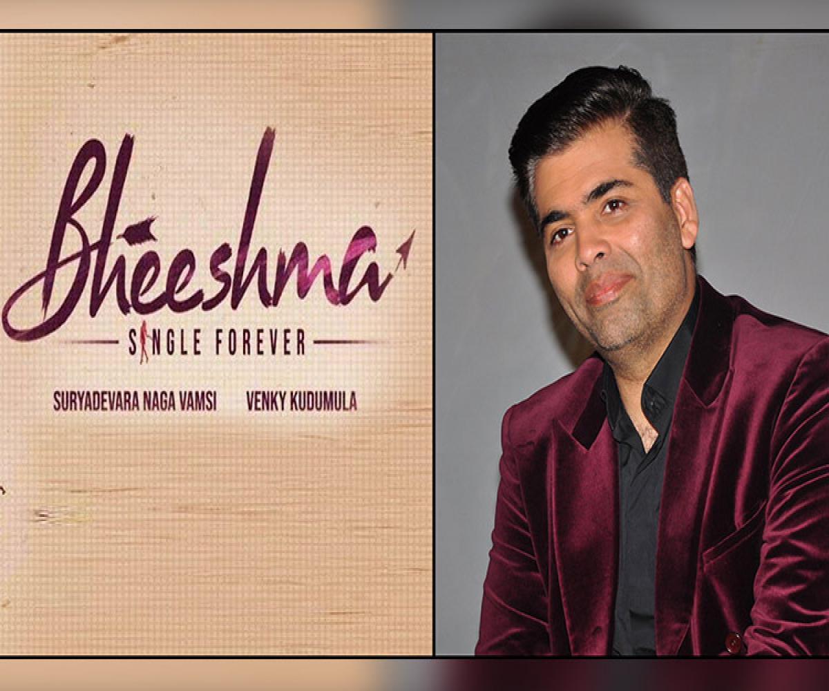 Karan Johar To Produce Bheeshma Hindi Remake The News Minute