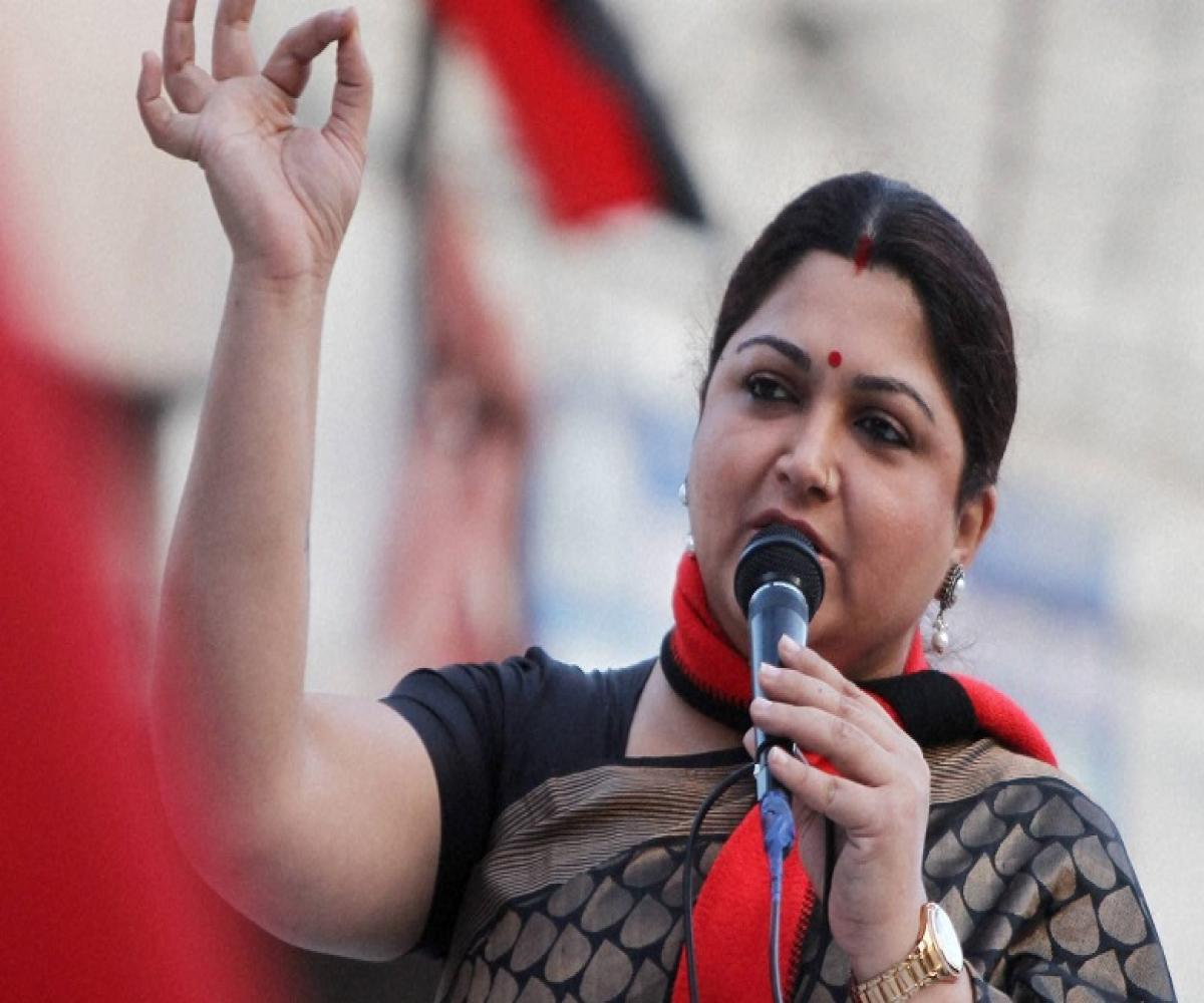 Khushboo Sundar files nomination papers for Thousand Lights constituency