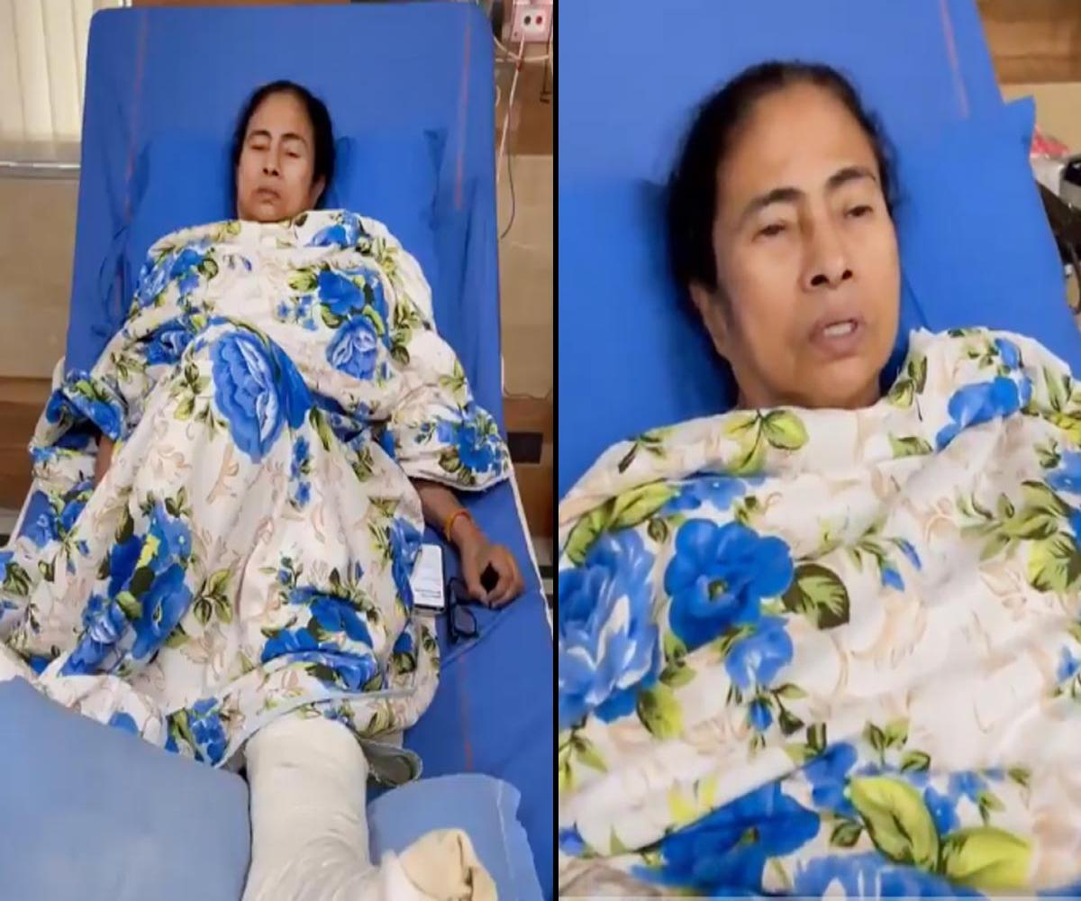 Injured Mamata releases video from hospital, asks TMC workers to maintain peace