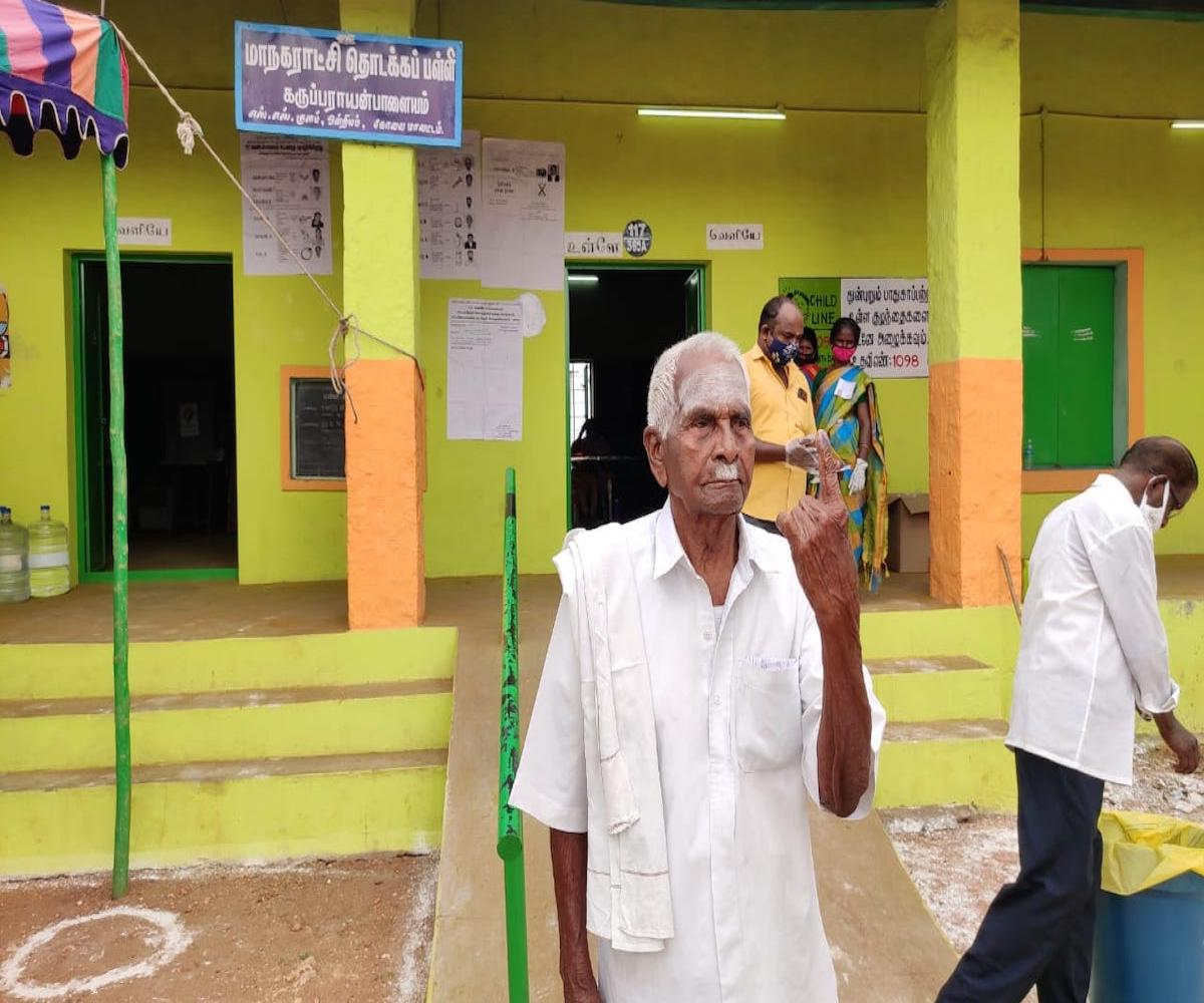 Meet Marappa Gounder, a centenarian who has voted in all TN Assembly elections