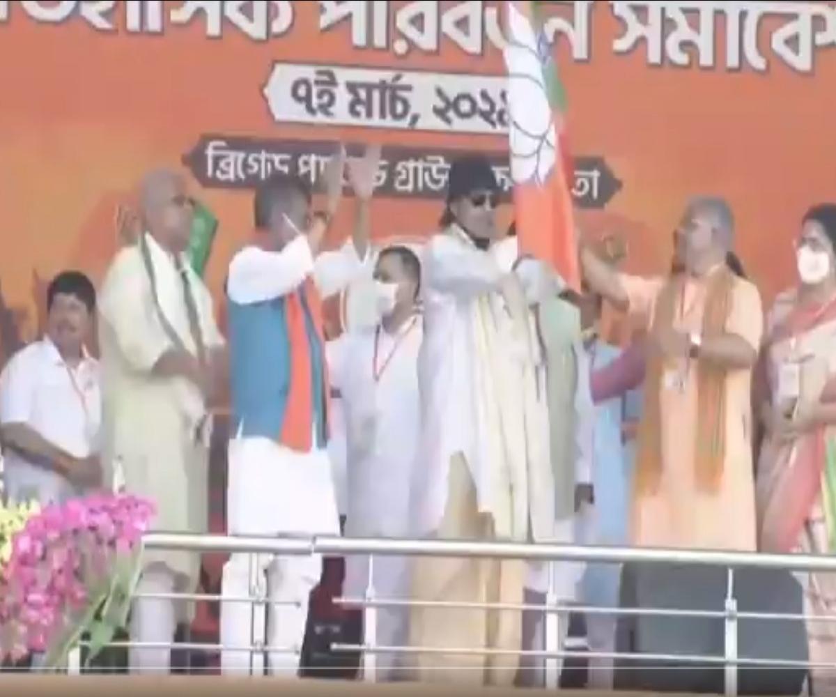 Mithun Chakraborty joins BJP ahead of PM Modi's Kolkata rally