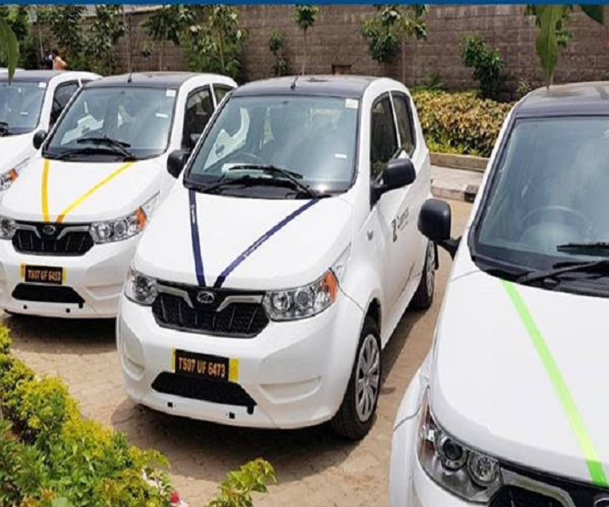 25 Electric Cars For Rent Launched At Miyapur Station By Hyd