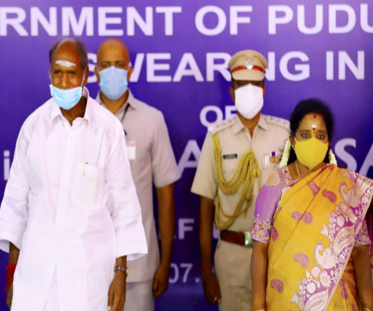 N Rangasamy sworn in as Puducherry CM for fourth time, to head coalition govt with BJP