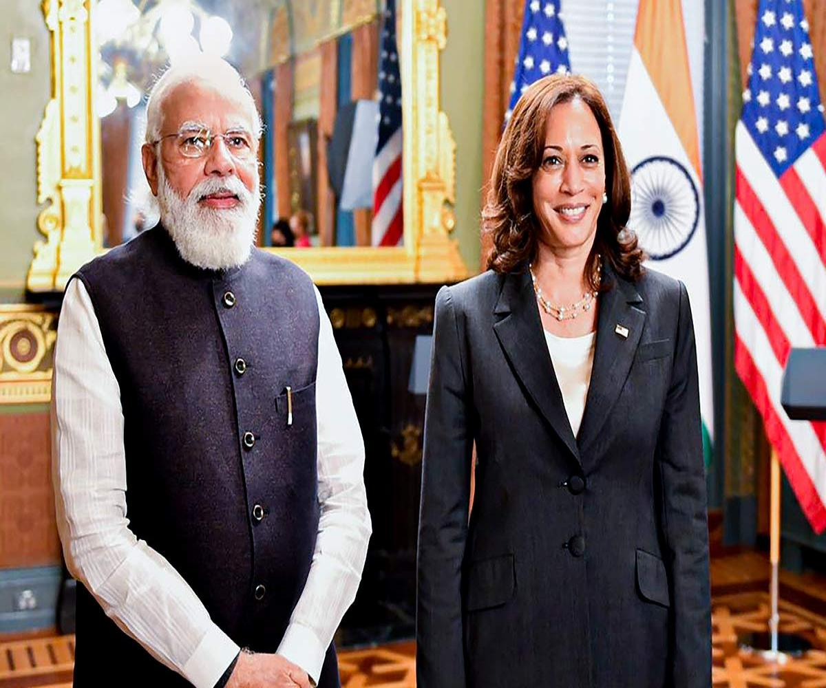Video: In meeting with PM Modi, Kamala Harris talks about defending  democracies   The News Minute