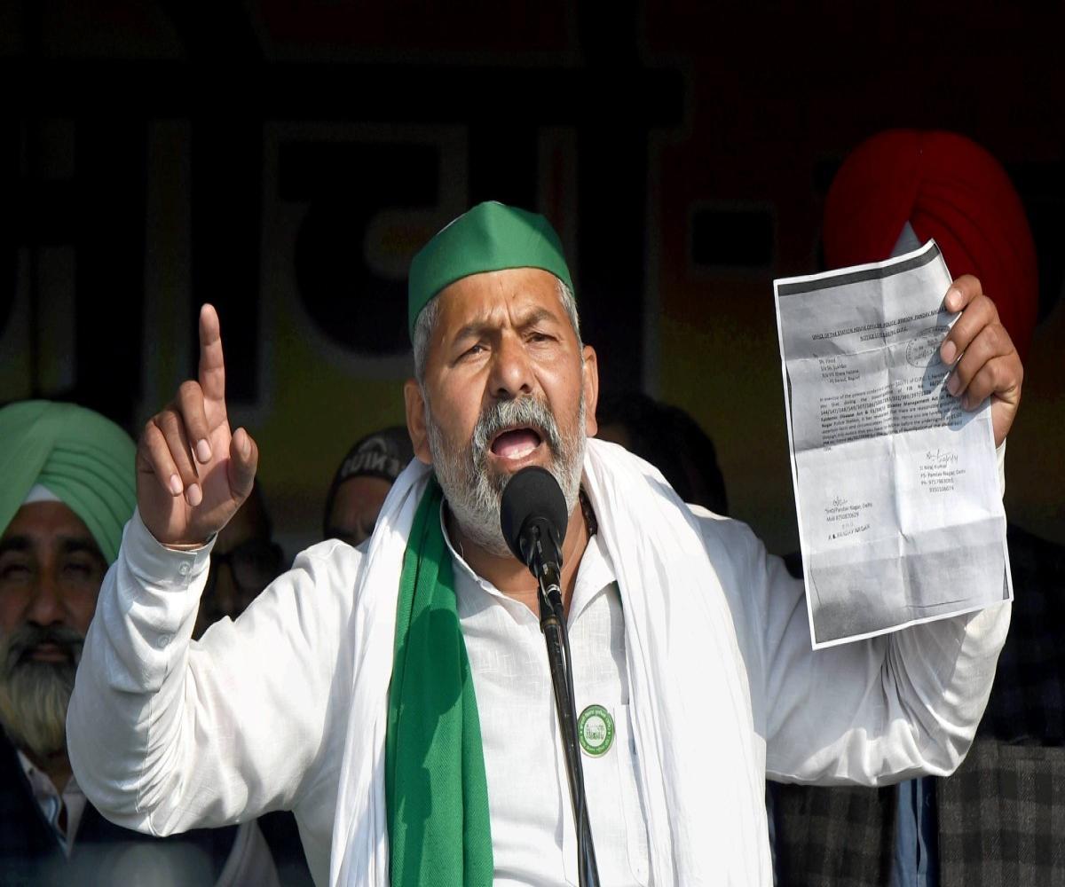 Farmers ready to talk if govt invites, no change in demands: Rakesh Tikait