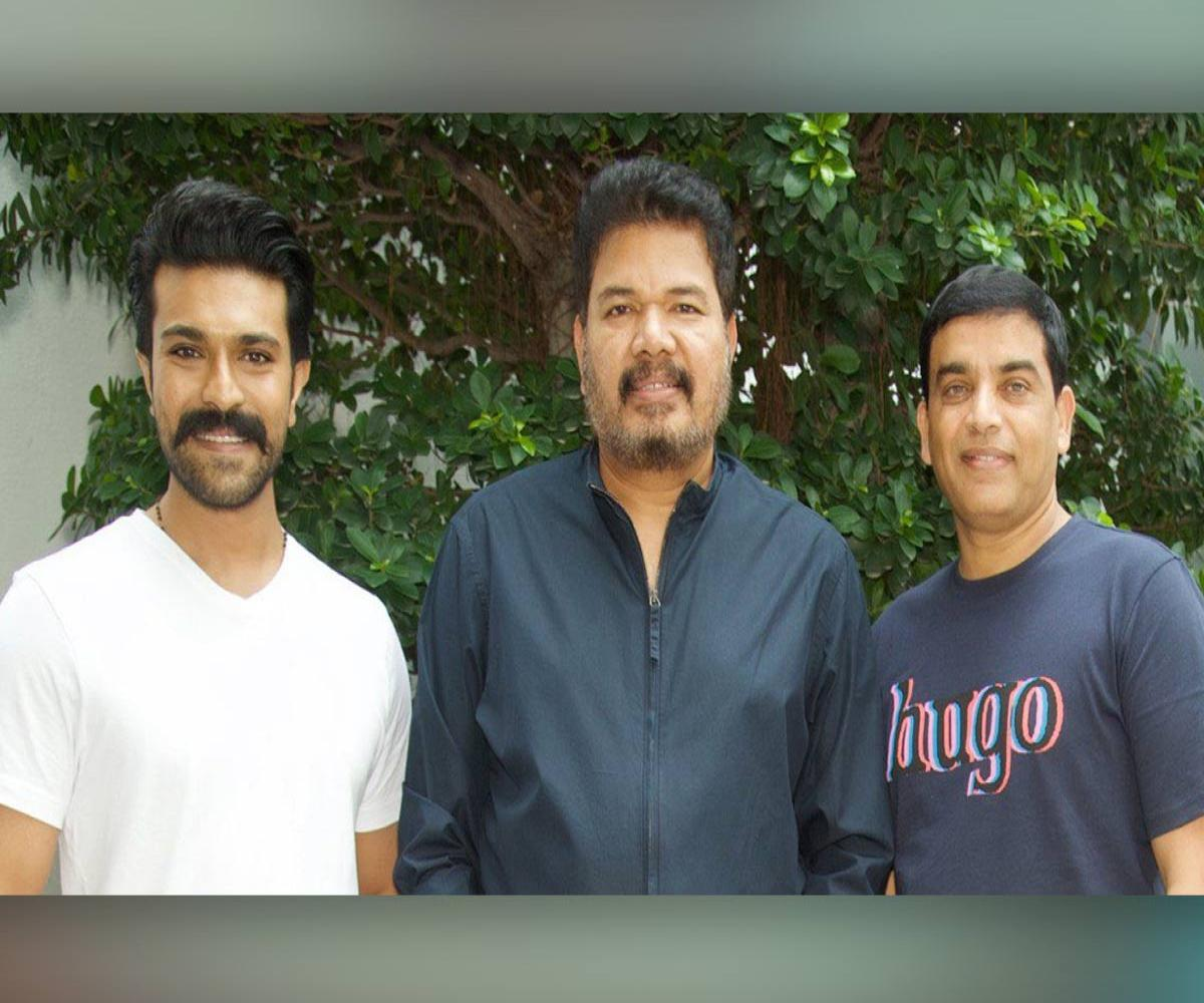 Ram Charan and producer Dil Raju meet director Shankar for 'RC15'   The  News Minute