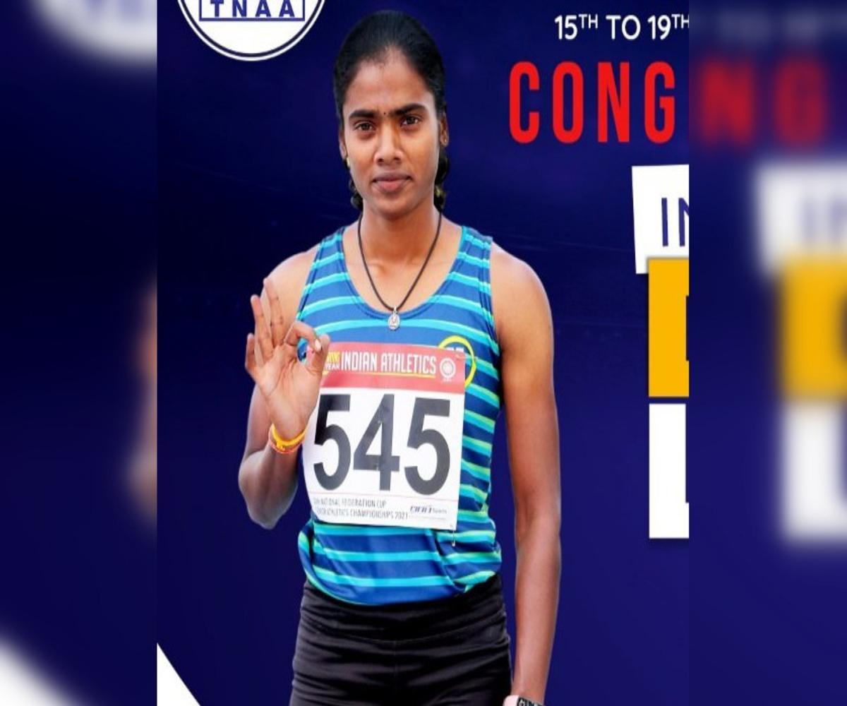 TN's Dhanalakshmi clocks 23.26 secs in 200m semifinals, breaks PT Usha's meet record