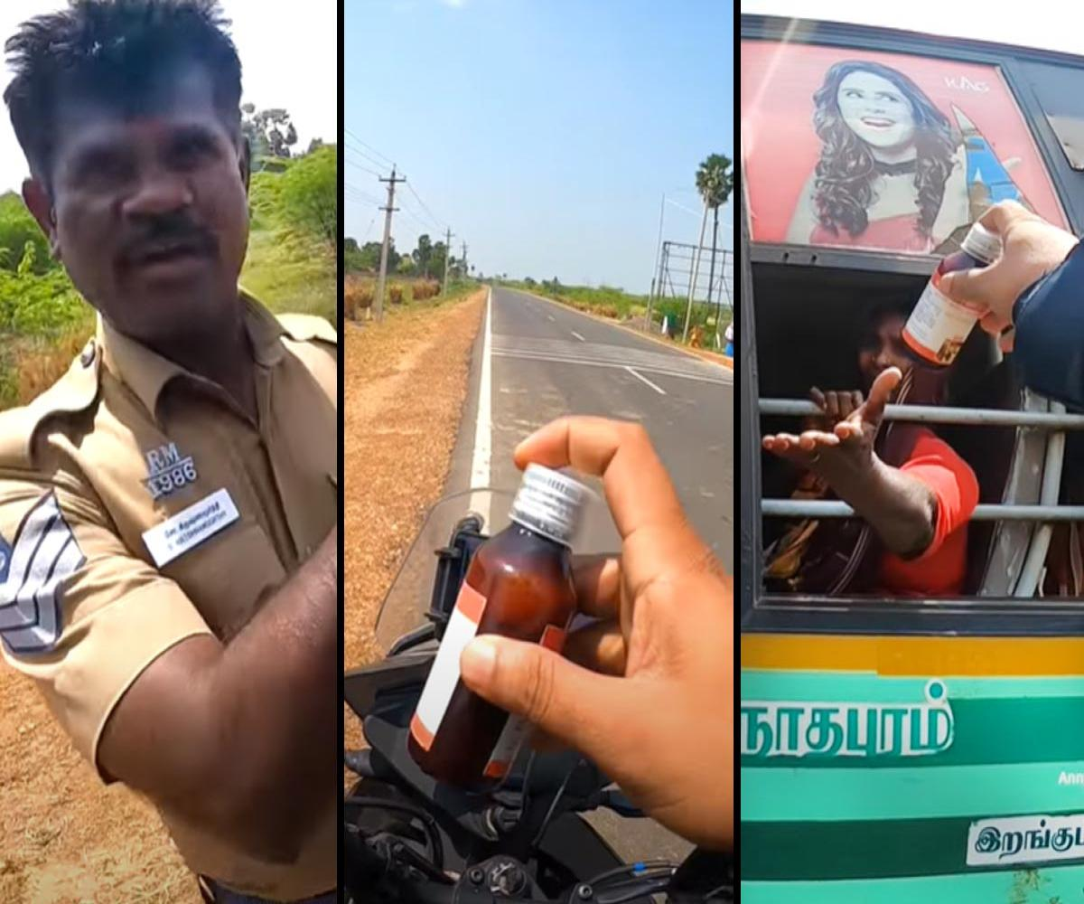 Watch: Bengaluru biker chases bus to help an elderly woman get back her meds