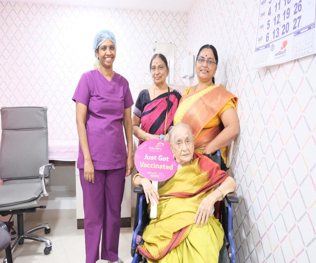 Chennai women from three generations of a family get vaccinated together