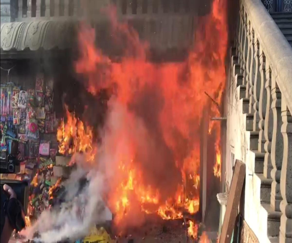 Fire breaks out near Tirumala temple, one dead