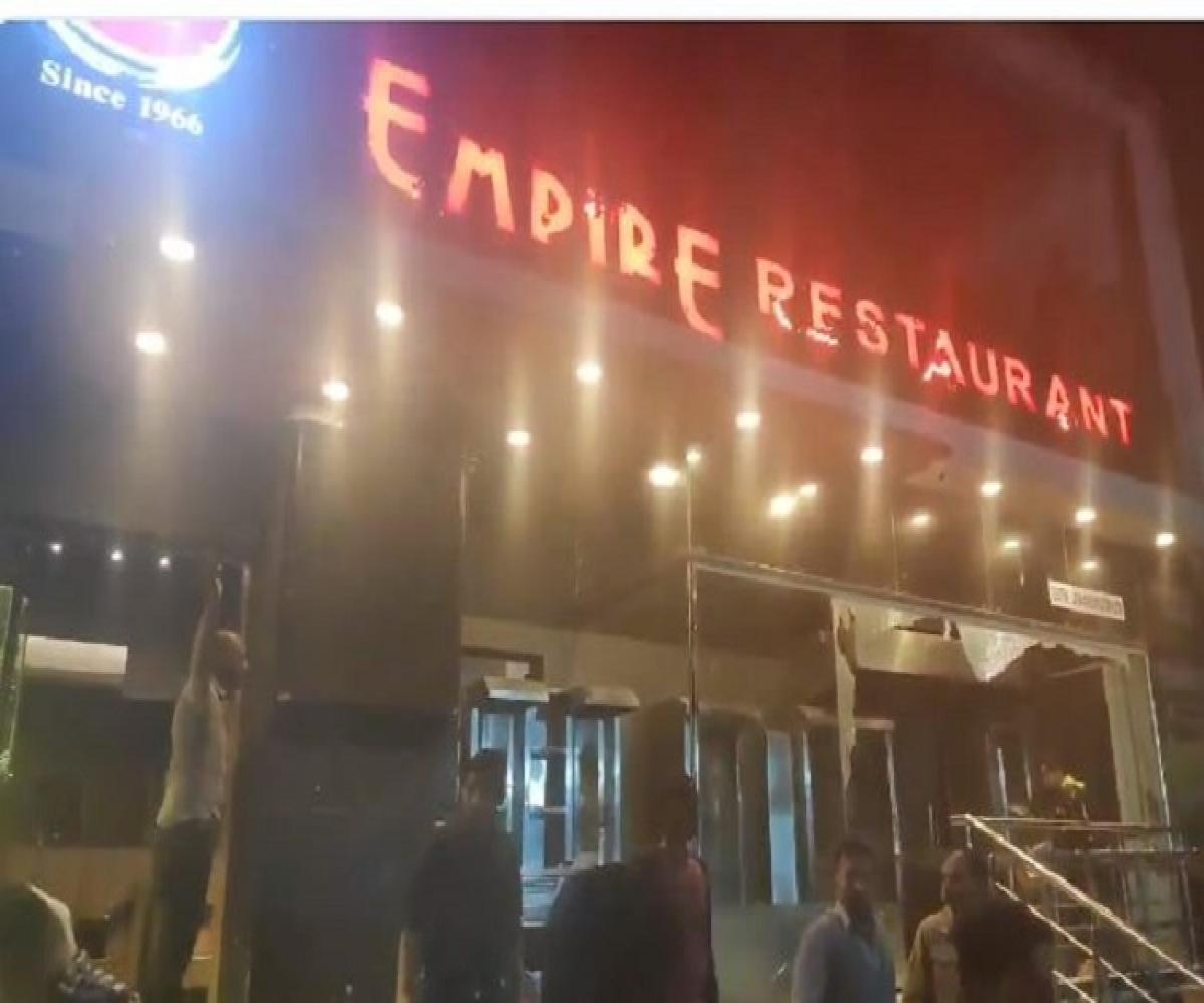Image result for latest images of Empire Restaurant in bengaluru vandalised after staff allegedly attack delivery executive