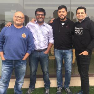 Sachin, Shrikant, Vivek and Neel, the founders of the startup iZooto