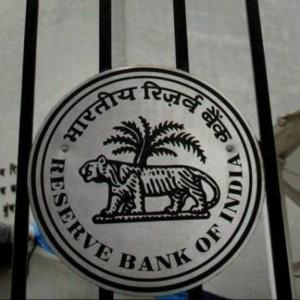 The logo of RBI