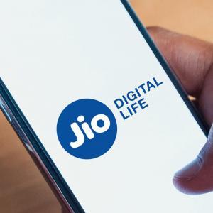 Reliance Jio on a smartphone