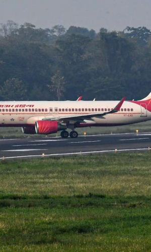 An Air India aircraft on a taxiway