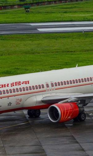An Air India special flight before taking off for Chennai from Mohanbari Airport during the ongoing nationwide COVID19 lockdown