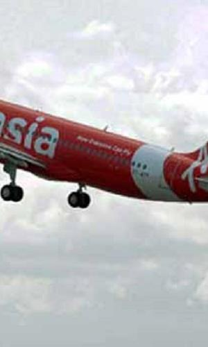An AirAsia plane in the skies