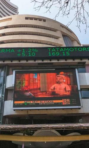 Sensex crosses 50000 mark