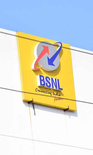 BSNL building with logo