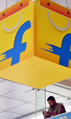 Flipkart bag logo at the office