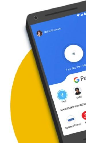 Phone with Google Pay app open