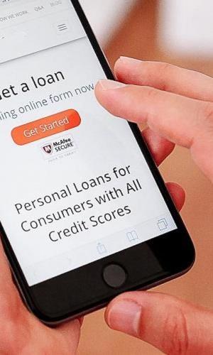 Mobile app offering loan